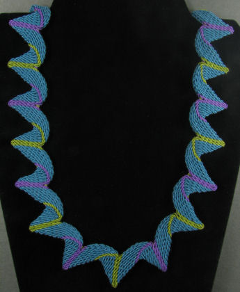 Ply-split Braiding necklace 11