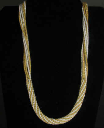 Ply Split Braiding Necklace 74
