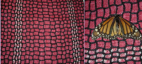 Scarf with Monarch Butterfly