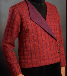 Designed, handwoven, and sewn by Louise French